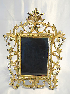 Ornate Gold Gilt Acanthus Frame French Rococo/ Victorian Style Cast Iron