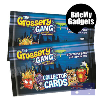 The Grossery Gang Collector Cards - Season 1 - 5 pack NEW!