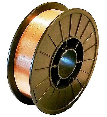 """11-Lb Spool 0.035"""" ER70S-6 MIG Welding Roll Wire - Copper Coated"""