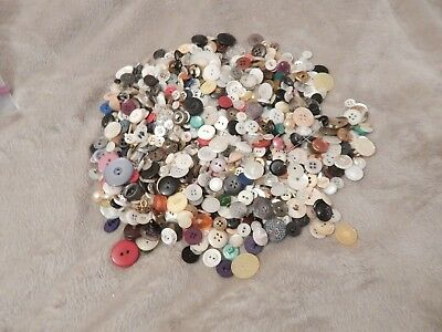 Lot Of Loose Mixed Buttons 300+