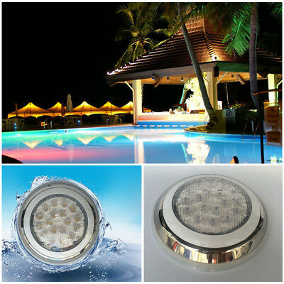 12V 18W/54W RGB 3LED Swimming Pool Light Lamp Underwater + Remote Control