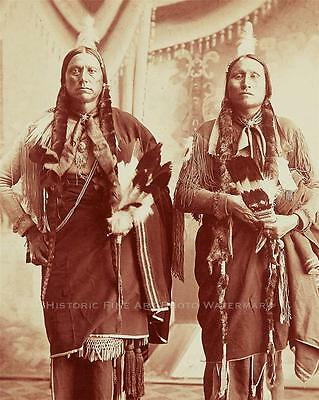 Comanche Indian Chief Quanah Parker Old Photo Native American Old West  #21111