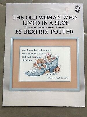 The Old Woman who lived in a shoe by Beatrix Potter Cross stitch pattern