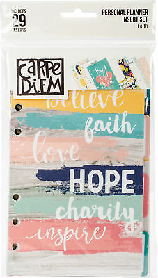 Carpe Diem Faith Double-Sided Personal Planner Inserts-Monthly, Undated, Part CD