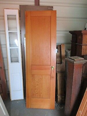 ANTIQUE VINTAGE 2 PANEL INTERIOR DOOR 24 x 77 approx NOT PAINTED