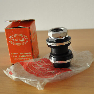 "NEW * NOS OMAS big sliding 1"" Headset Italian 25.4 serie sterzo Campagnolo ALLOY"