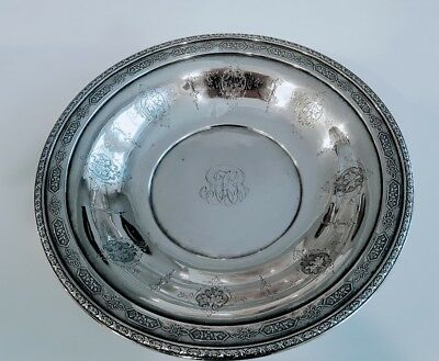 """Rare Salad Plate Or Bowl Towle Louis Xv Sterling 8 1/2"""" Wide 48164"""