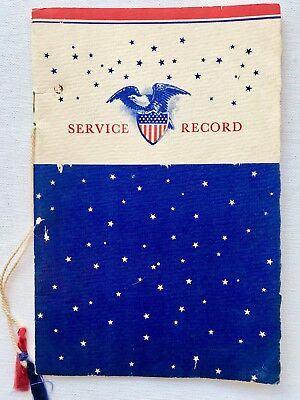 vintage world war 2 wwii service record book pharmacist us navy