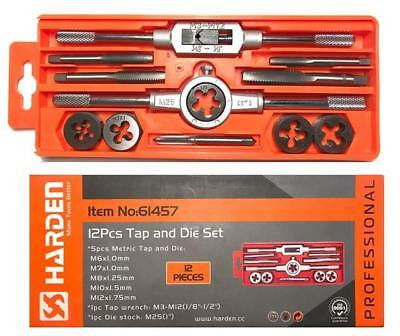 HARDEN metric tap and die set 12 pcs  M6-M12, ISO 9001 (HAR 61457)