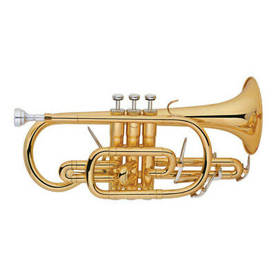 Funion Cornet, Bb Key, Tuning Slide trigger,Gold lacquer WT Case, Cleaning Cloth
