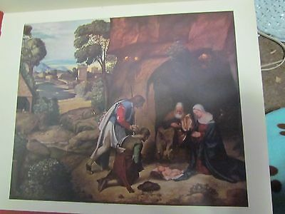 Adoration Of The Shepherds By Giorgione Book Of The Month Reproduction