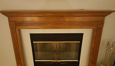Oak Finished Fireplace Mantel