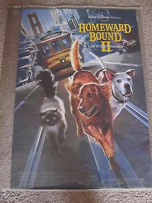"""Disney's Homeward Bound II 27"""" x 40"""" Double Sided Movie Theater Teaser Poster"""
