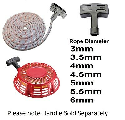 Lawn mower engine Strimmer Recoil Starter Pull Handle Cord Rope Many Sizes New