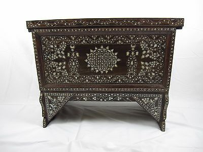 vintage Syrian Mother Of Pearl Inlaid Chest