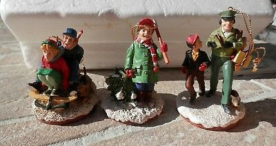 Norman Rockwell's Family Treasures - 3 Figures From 1995 -  Papers Included