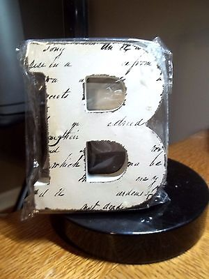"New Off White Block Letter Blk Handwriting Letter ""b""  4.5""t X 3.75"" W"