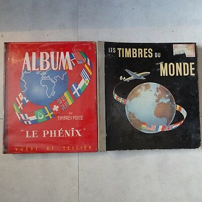 Collection Stamps Of The World In 2 Covers Albums Mobiles