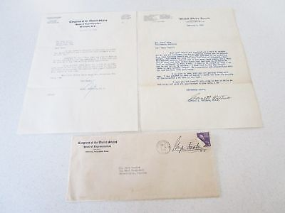 Vintage Letters from US Senate & Congress Florida Kentucky Smathers Withers (2)