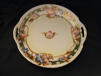 """Nippon CAKE PLATE with gold beading 10 1/2"""""""