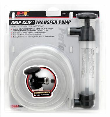 Performance Tool W1156 Grip Clip Transfer Pump/ Siphon Fluid Transfer Pump Ki...