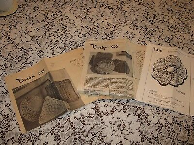 Set of 3 Vintage smocked pillow patterns square-round-triangular & flower shapes