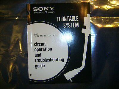 Sony Turntable PS-T25 -T20 -T15 -T3 -T2 -T1 Circuit Operation & Troubleshooting