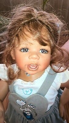 """Rebecca 31"""" Porcelain Doll By Monika Levenig Very Limited Ed. 2003  064/200"""
