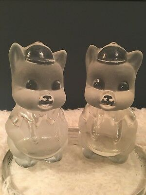 Vintage Viking USA Art Glass PIG Bookends Hand made Original Label Paperweight