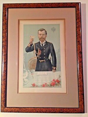 Nicholas II Last Czar Russia 1897 Antique Vanity Fair Lithograph Little Father