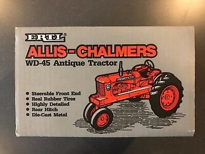 Ertl Allis Chalmers WD-45 Antique Tractor 1985 box only for vintage toy tractor
