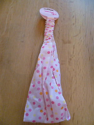 George Cotton Pink Orange Yellow & Pink Spotty Headband      (Girls Dance Party)