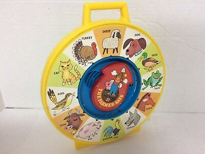 """Mattel SEE 'N SAY """"THE FARMER SAYS"""" Horse Sheep Frog Rooster Turkey Works 1983"""
