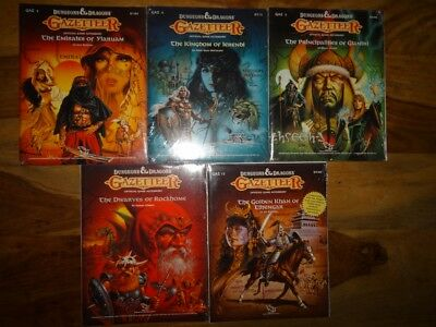 NEW SEALED & still in SHRINK WRAP (D&D TSR) - Gazetteer GAZ2, GAZ3, GAZ4, GAZ6