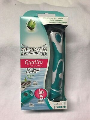 Wilkinson Quattro for Women Rasierer + Trimmer 2in1 Aloe  mit 1 Klinge, NEU+OVP