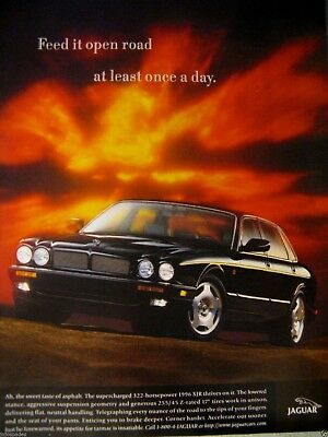 1996 Jaguar XJ6-Jaguar XJR-Feed It Open Air-Original Print Ad-8.5 x 11""