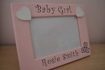Personalised New Baby Granddaughter Photo Frame Picture Keepsake Gift Present 6x4 5x7 8x6 10x8 Print