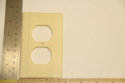 vintage outlet plate bakelite Ivory large and small rib full length