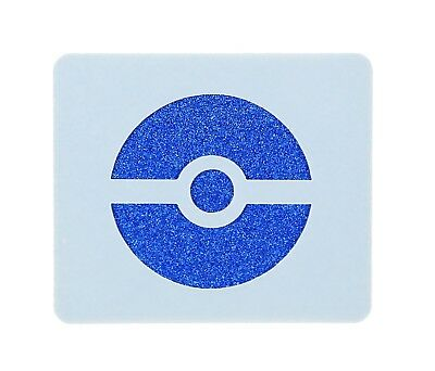 Pokemon Ball Face Painting Stencil approx 7cm x 6cm Washable and Reusable