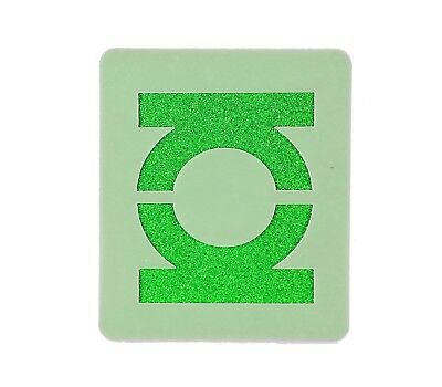 Green Lantern Logo Face Painting Stencil approx 7cm x 6cm Washable and Reusable