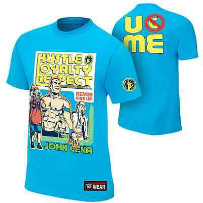 """OFFICIAL WWE John Cena """"Throwback"""" Authentic T-Shirt. UK Size L. NEW & SEALED"""