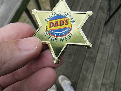 Vintage Original Dad's Root Beer Collectable Advertising Badge Sign Rare