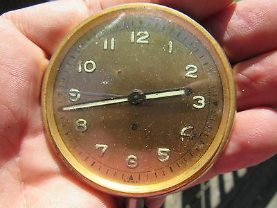 Vintage Original Swiss Made 8 Day Car Clock With Alarm Runs But Stops ?
