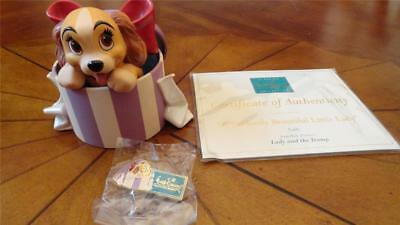 Disney WDCC Perfectly Beautiful Little LADY & The Tramp 1999 Member Figure & Pin