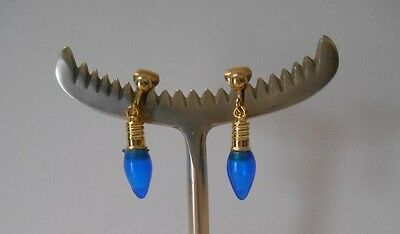 Created by me with Blue Miniature Holiday Bulbs & GP Clip On Earrings