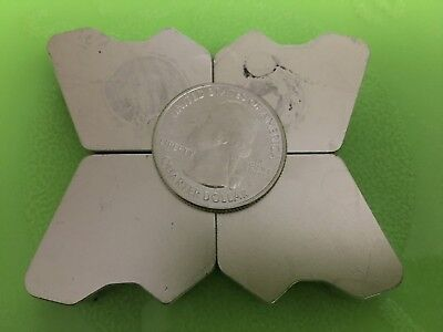 LOT OF 4 Extra Large Thick Neodymium Rare Earth Hard Drive Magnet
