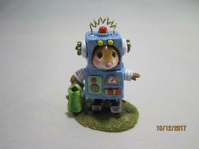 Wee Forest Folk Robbie Robot Blue Retired 2015 - WFF Box - Not Perfect