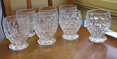 """LOT 7 HEISEY GLASS CRYSTAL WHIRLPOOL PROVINCIAL Footed TUMBLER 4.25"""" Signed"""