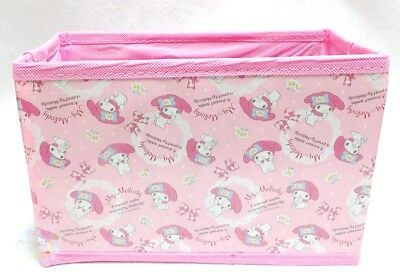 NEW! SANRIO My Melody KAWAII Folding Simple Easy Light Storage Box Limited JAPAN