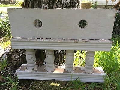 """FINE ANTIQUE RAILING w 4 BALUSTERS 1800s ARCHITECTURAL SALVAGE 18"""" SHABBY CHIC"""